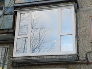 Остекление балконов Rehau,  Французское остекление. Днепр